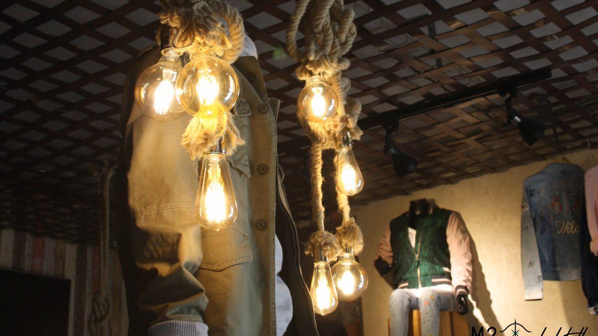 Interiorismo Comercial, tienda de ropa de estilo industrial.