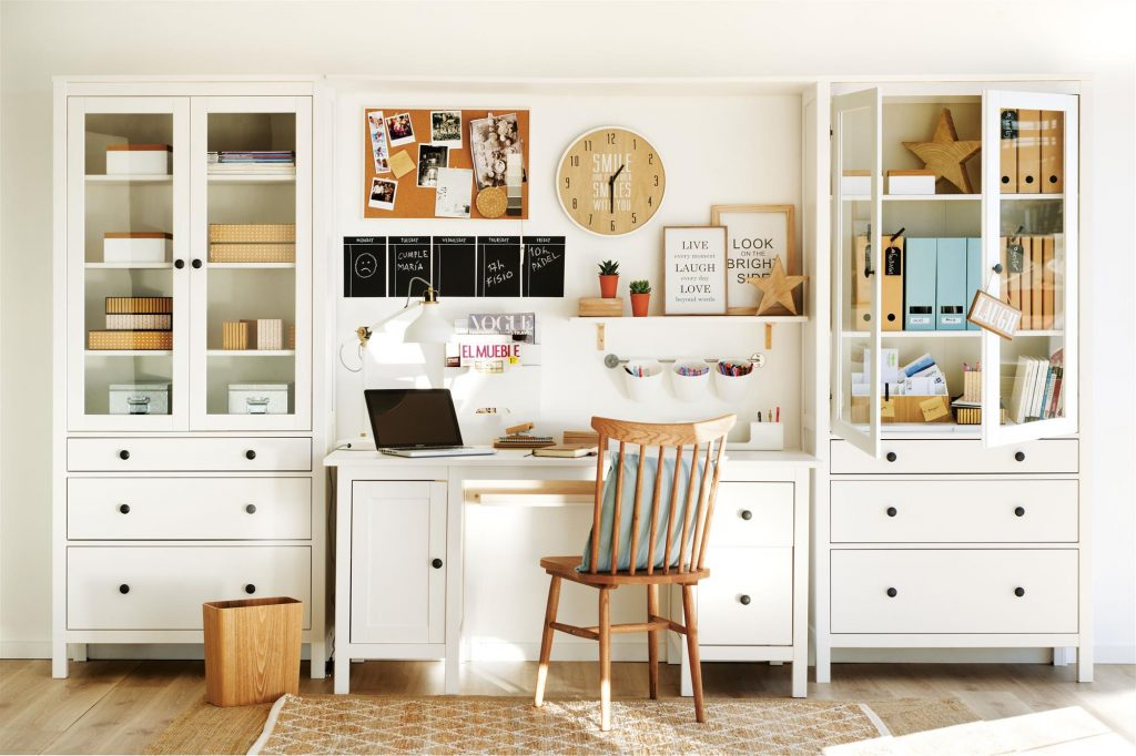 oficina con diseño blanco