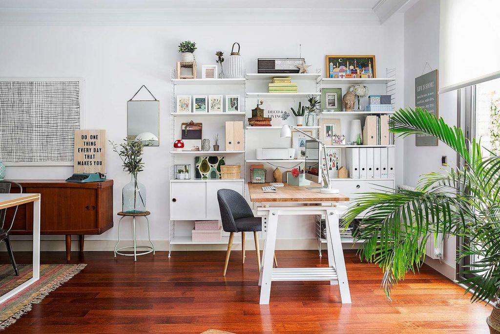 oficina con almacenaje