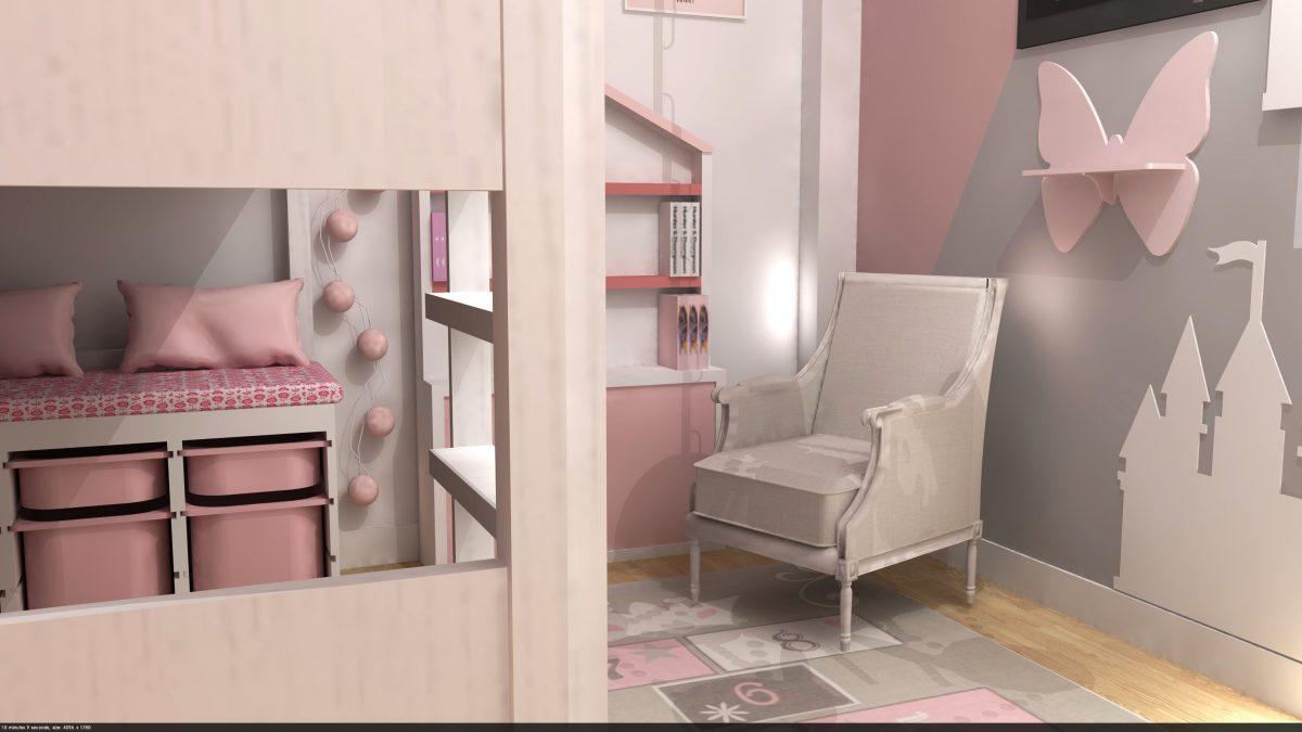Interiorismo residencial Online, una habitación de princesa